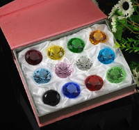 Crystal Diamond 12pcs/lot 40mm crystal diamond paperweight home decoration wedding gifts,hot sale
