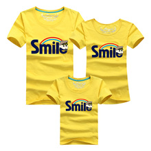 Family Matching Outfits Mother Father Baby Matching Family Clothing T Shirts Summer Cotton Printed Tees Tshirts For Boys Girls