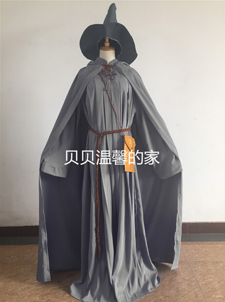 Lord Of The Rings Gandalf Wizard Cosplay Halloween Costume Custom