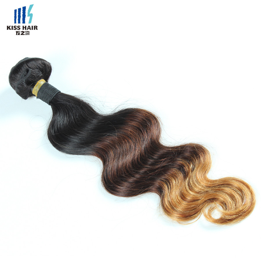 1 Bundle 10-28inch Tissage Malaysian Body Wave 7A Virgin Hair Extensions Kisshair T1b/4/30 Ombre Virgin Hair 3-tone Ombre Weave<br><br>Aliexpress