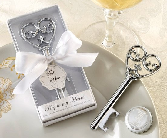 key to my heart victorian wine bottle opener in white box wedding favor gift fedex free. Black Bedroom Furniture Sets. Home Design Ideas