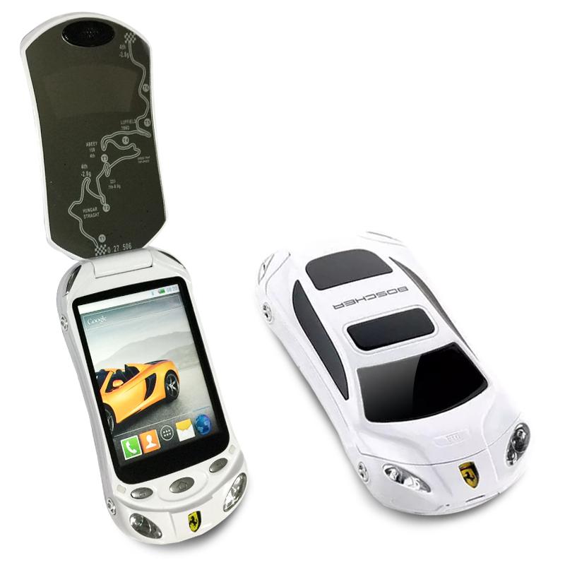 Spanish,Arabic,Hindi Flip unlocked dual sim whatsapp android 4.0.3 play store smart car model mini cell mobile phone F16 P434(China (Mainland))