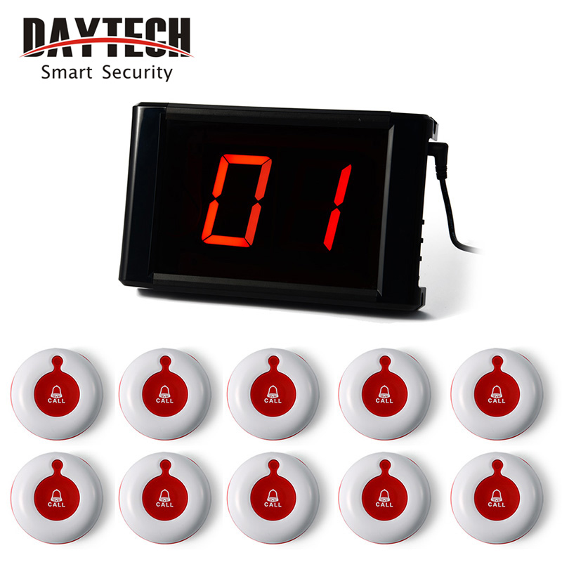 Wireless Calling System Call Button Wireless Restaurant Pager Paging Systems Table Service Buzzer Call Button 171+10*01A(China (Mainland))