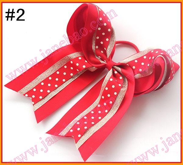 Free shipping 20pcs 8''three layer glitter cheerleading hair bows cheer bows cheerleader hair bow dance hair bows(China (Mainland))
