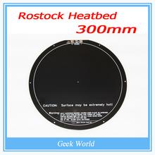 Kossel rostock delta melingkar tidur panas PCB 3d printer headbed delta 300 mm KOSSEL heated bed pengiriman gratis