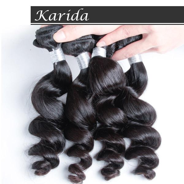 Peruvian Virgin Hair Loose wave,4pcs/Lot,5A grade top quality Karida hair weaves,Natural black color,DHL free shipping<br><br>Aliexpress
