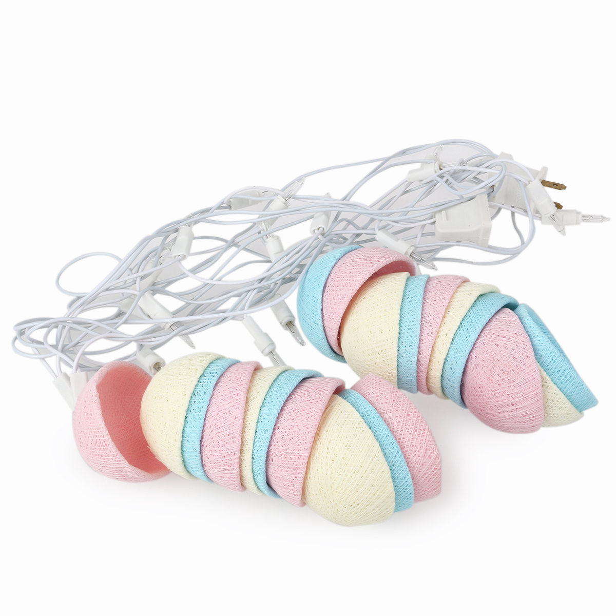 New Arrival Cotton Ball 20-LED String Lights Led Holiday Lamp for Wedding Garden Party Christmas Decoration (Pink+Blue+White)(China (Mainland))