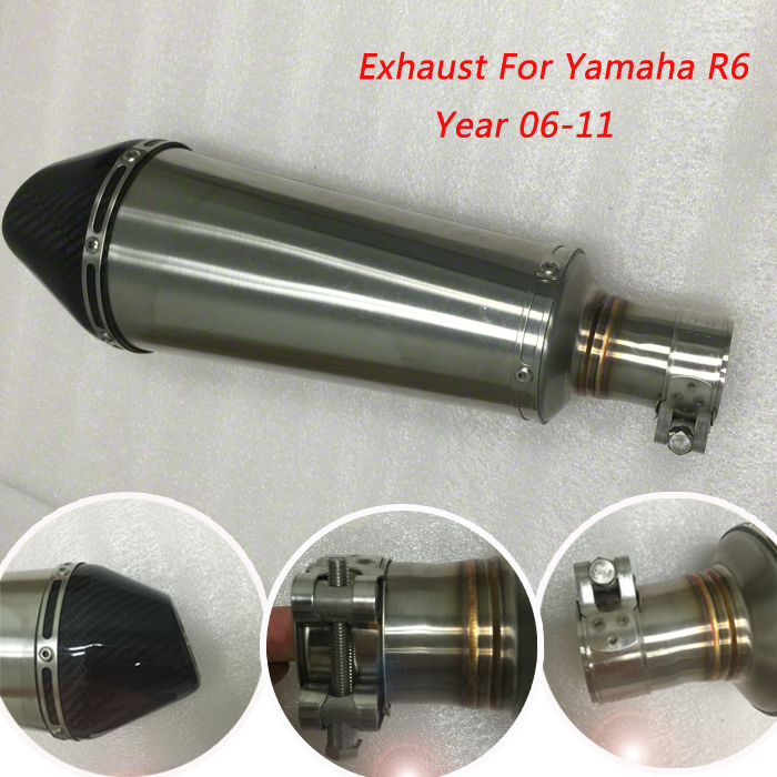 Popular exhaust r6 buy cheap exhaust r6 lots from china for Yamaha r6 carbon fiber exhaust