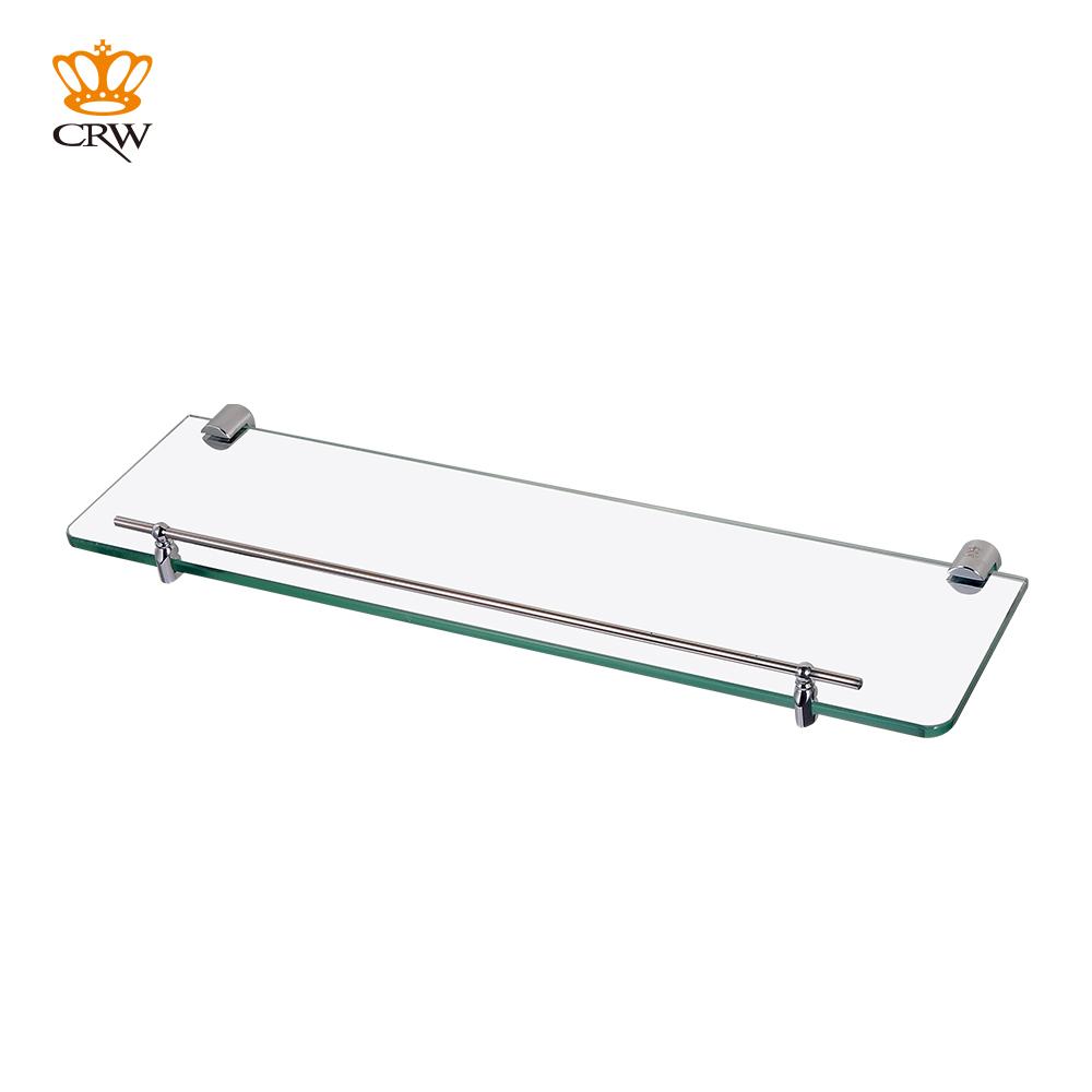 Tier glass shelf shower holder bathroom accessories corner shelves - Aliexpress Com Buy Crw 90103 Modern Simple Wall Mount