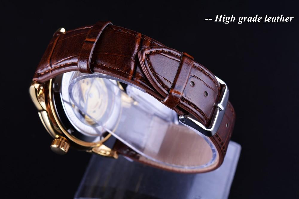 winner brown leather belt watchbands in