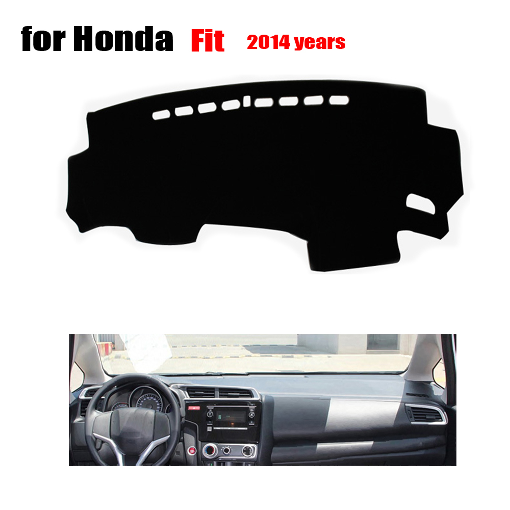 car dashboard covers For Honda Fit 2014 years left hand drive dash covers dash mat auto dashboard accessories avoid light mat(China (Mainland))