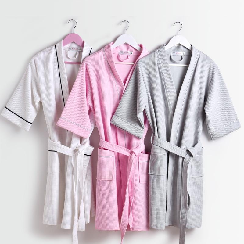 2016 brand beroyal waffle bathrobe cotton bath robe unisex for Home spa brand towels