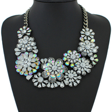 2015 Luxury Brand Collar Necklaces & Pendants Fashion Woman Flower Statement Necklace High Quality Rhinestone Necklace Jewelry()