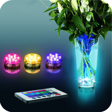 Waterproof Multi Color Submersible10LED Light Party Lamp Underwater W/ Remote Control