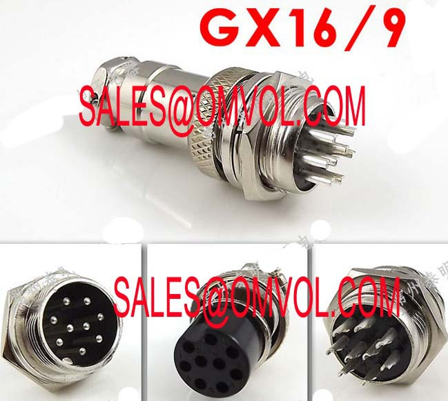 GX16 9Pin Male & Female Diameter 16mm Wire Panel Connector GX16 circular connector Socket Plug(China (Mainland))