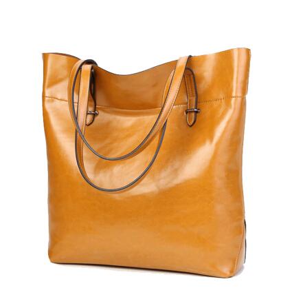 New 2016 Genuine leather bag ladies Large capacity shopping shoulder bag handbag bolsas women handbags famous brands Women bags(China (Mainland))