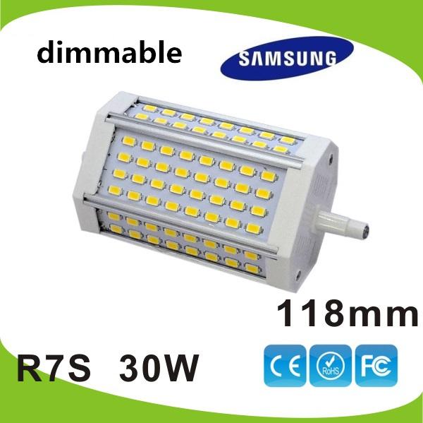 acheter haute puissance 118mm led r7s lumi re 30 w dimmable r7s j118 lampe sans. Black Bedroom Furniture Sets. Home Design Ideas