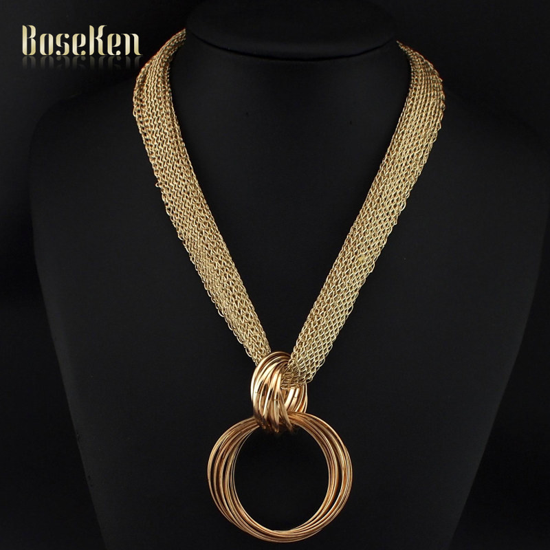 Women Choker 2016 Wide Net Rope Collar Cross Vintage Cluster Metal Circles Pendant Statement Necklaces Fashion Accessories #3287(China (Mainland))
