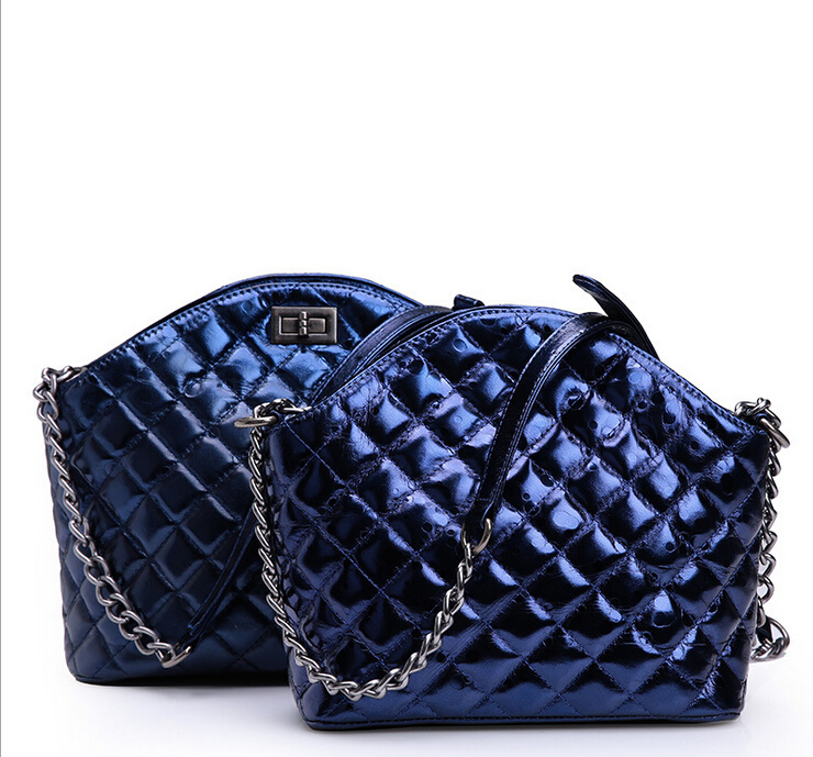 Hot-sell 2015 Famous Brand Womens Real Suede Leather Plaid Chain Tote Bags Luxury Classic All-match Ladies Elegant Handbag <br><br>Aliexpress
