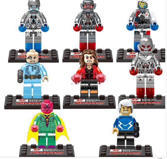 2015 Avengers Age Ultron D852 Minifigures 8 Building Blocks Sets Bricks Toys Children Original Box - dina tang's store