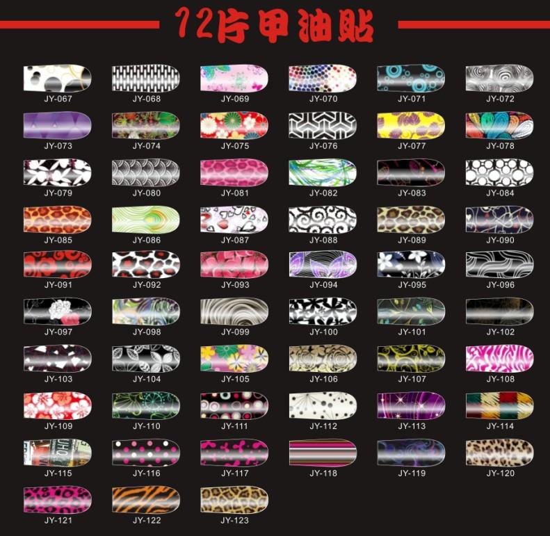 Salon style Nail polish Strips Nail wraps patch print Nail stickers(China (Mainland))