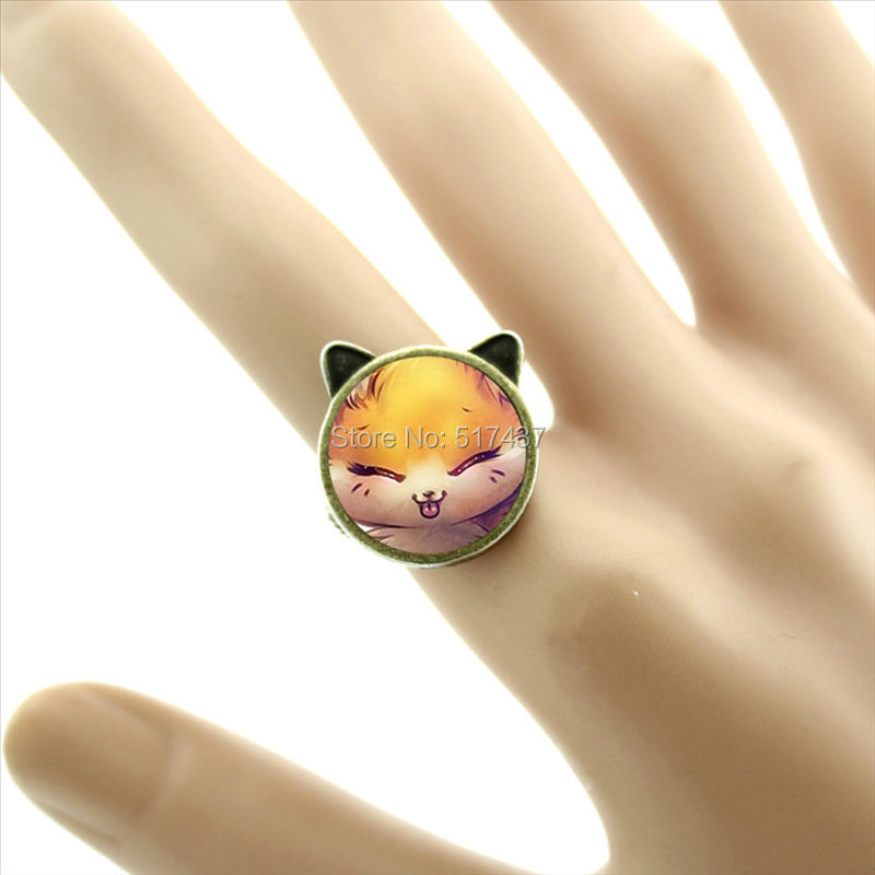 New Fashion Smiling Fox Rings Little Naughty Fox Personalized Ring Cartoon Fox Antique Brass Rings CR-00137(China (Mainland))