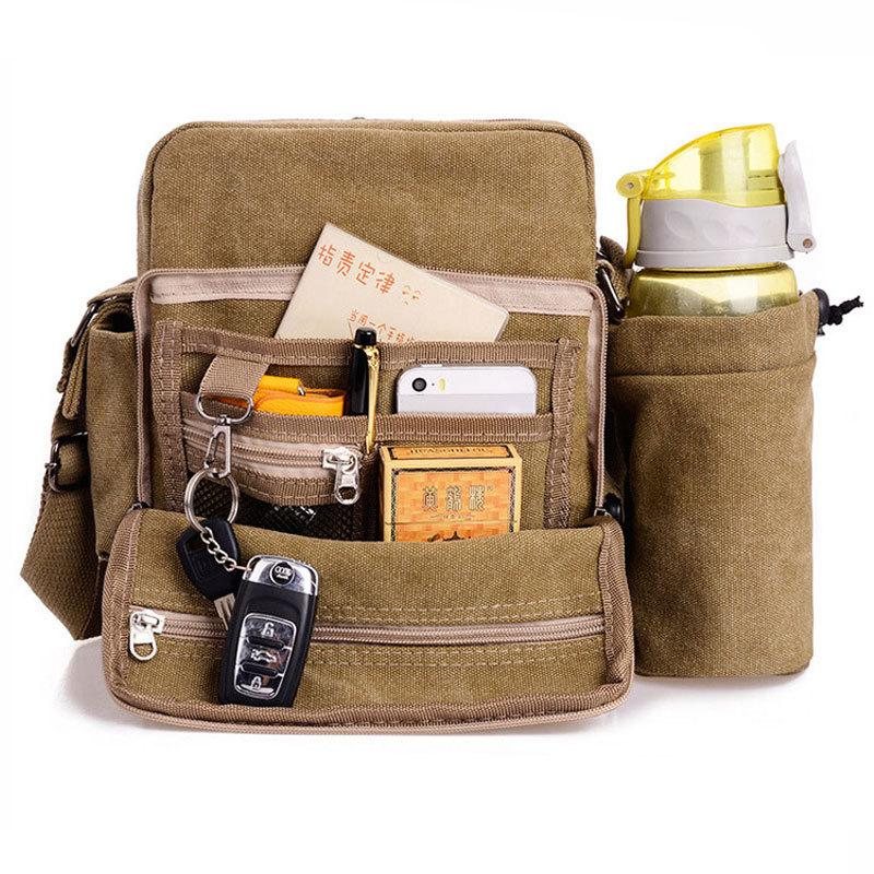 High Quality New Men Canvas Messenger Bags Casual Multifunction Men Travel Bags Man Famous Brand Outdoor Sport Shoulder Handbag(China (Mainland))