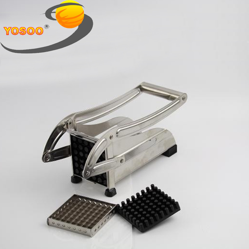 New 1Pcs Stainless Steel Potato Chipper French Fries Slicer Chip Cutter Chopper Maker 2 Blades Free Shippiong From US DE AU UK(Hong Kong)
