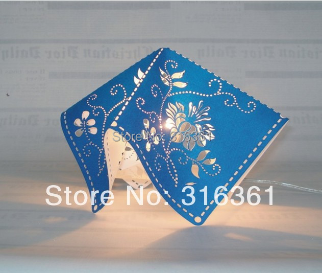 Fashion mini gift lights Woven carvings + Acrylic sheet night light with free shipping!!!(China (Mainland))