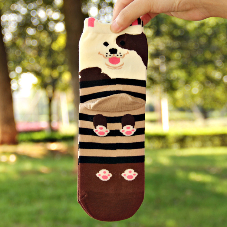 3D Race Class Dog Printed Adults Socks Couples High Quality Cotton Calcetines Breathable Deodorant Long Sock Knitted Chaussette(China (Mainland))