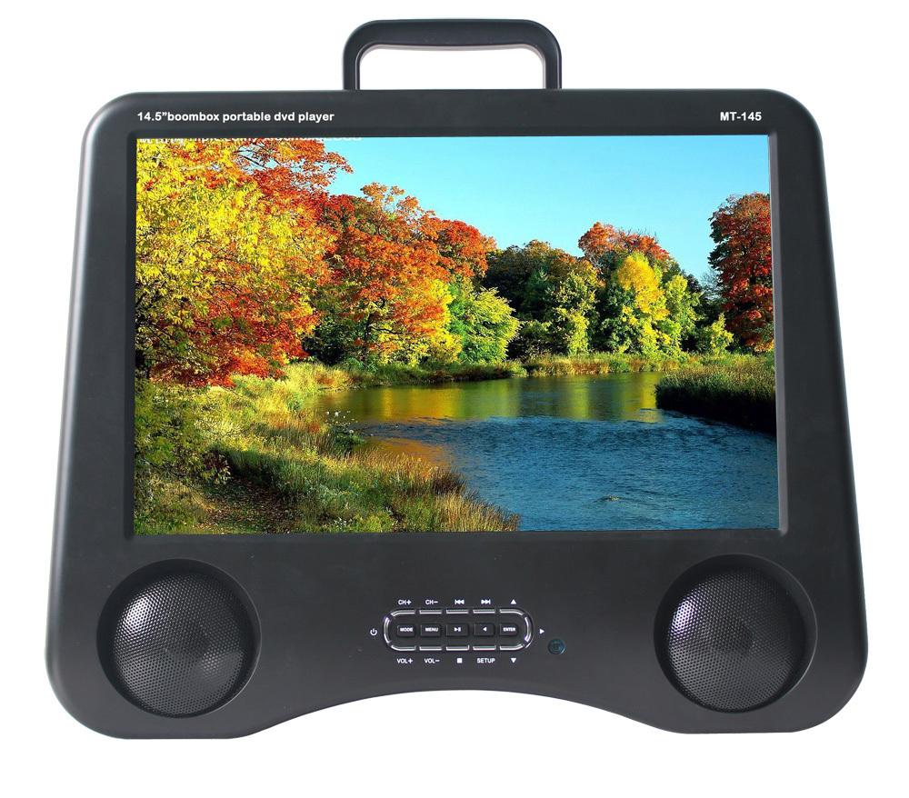 SD-1278 Type 12.5 inch Cheap Portable Multi Media DVD Player Built-in VCD, DVD, USB, AV, TV, GAME, FM Function(China (Mainland))