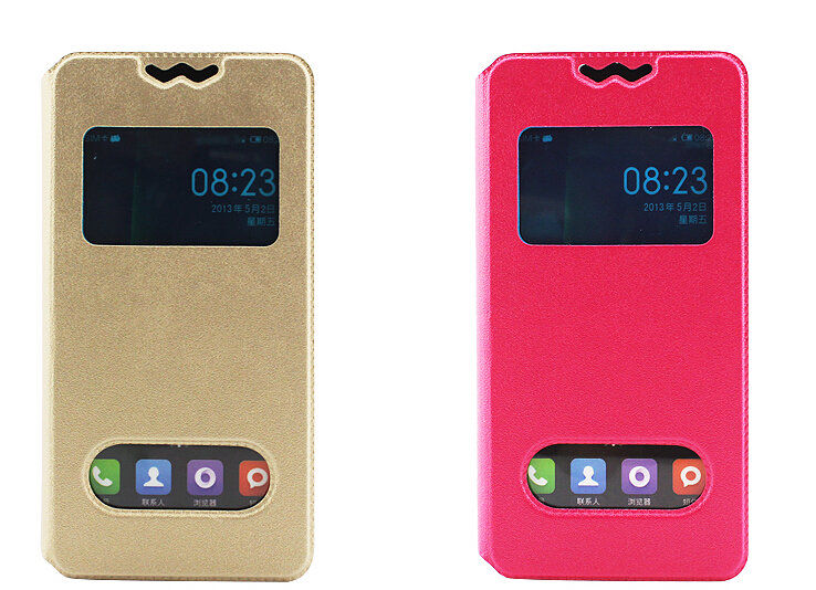 New 360 Rotating Stand Flip Double View Window Leather Cover For Samsung SHV- E160S Case Phone Cases Accessories 6 Colors(China (Mainland))