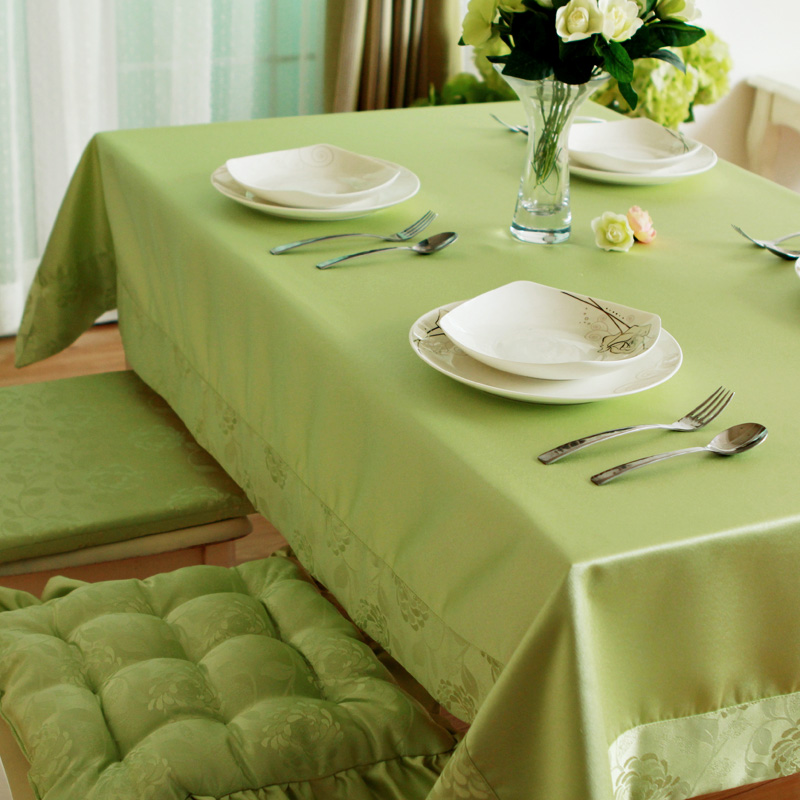 Rose Fashion Brief Green Rustic Waterproof Table Cloth Fashion Cloth Dining Table Cloth Coffee