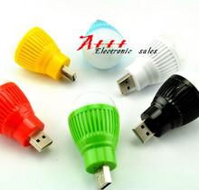 5PCS USB lamp light LED flashlight bulb head portable Nightlight universal mobile power charging treasure bright lamp(China (Mainland))