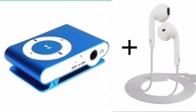 Portable Metal Clip MP3 Player No Memory Card Music Player With Best Earphone(China (Mainland))