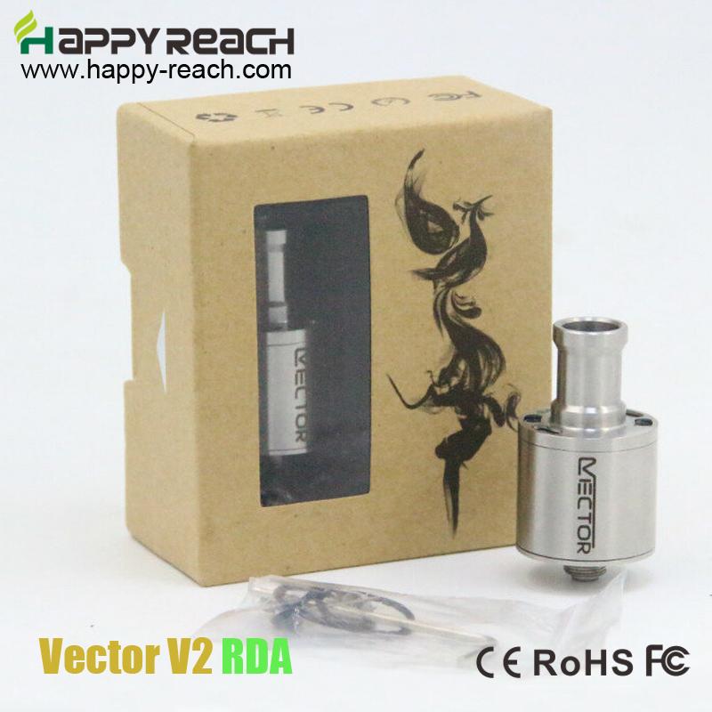 New arrival !!!10 PCS Rebuildable Vector V2 RDA Atomizer Vector RDA Copper pin Leak-free Vaporizer Vector Airflow Control(China (Mainland))