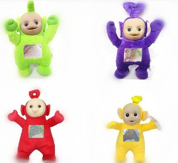 """Wholesale 50pcs/Lot New 13""""  Lovely Teletubbies Plush Doll Stuffed Toys 4 Colors Baby Best Friends Toy Ems Free Shipping"""