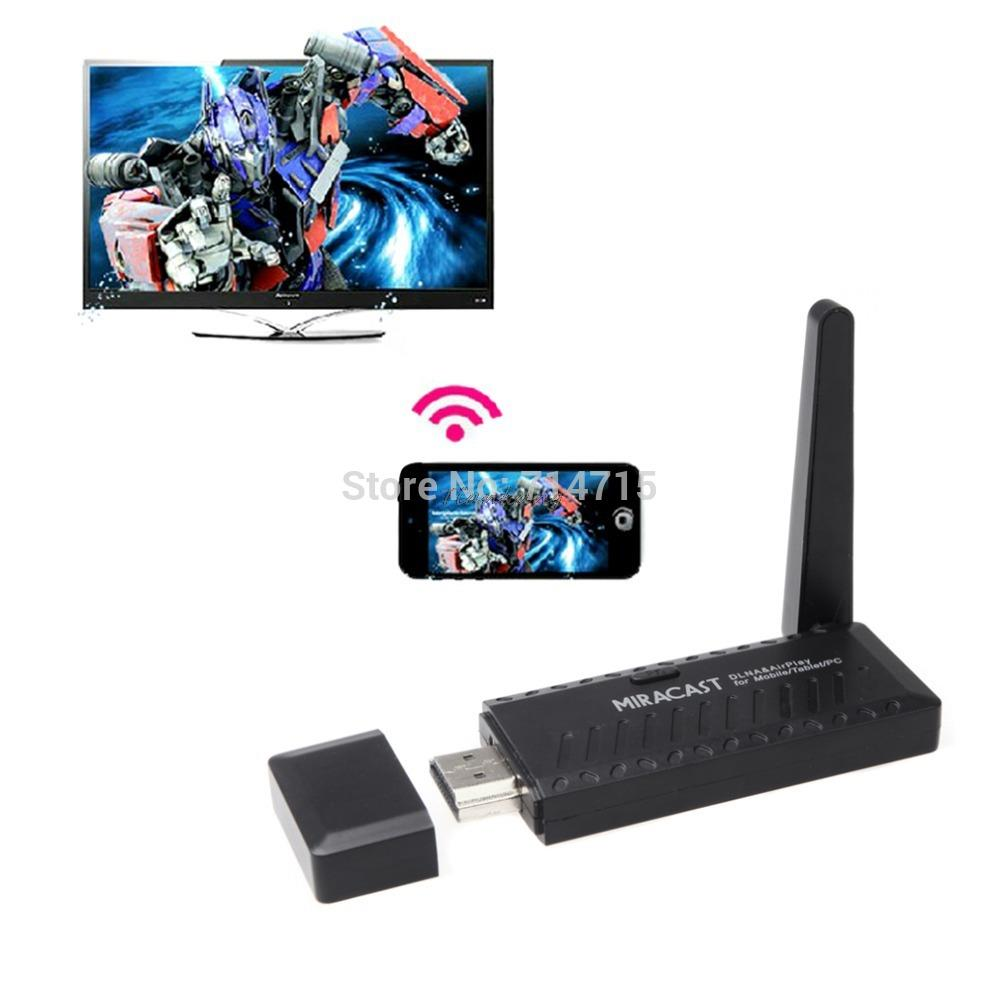 Miracast DLNA Airplay WiFi Display Receiver Dongle Support for Windows for iOS for Andriod High Quality