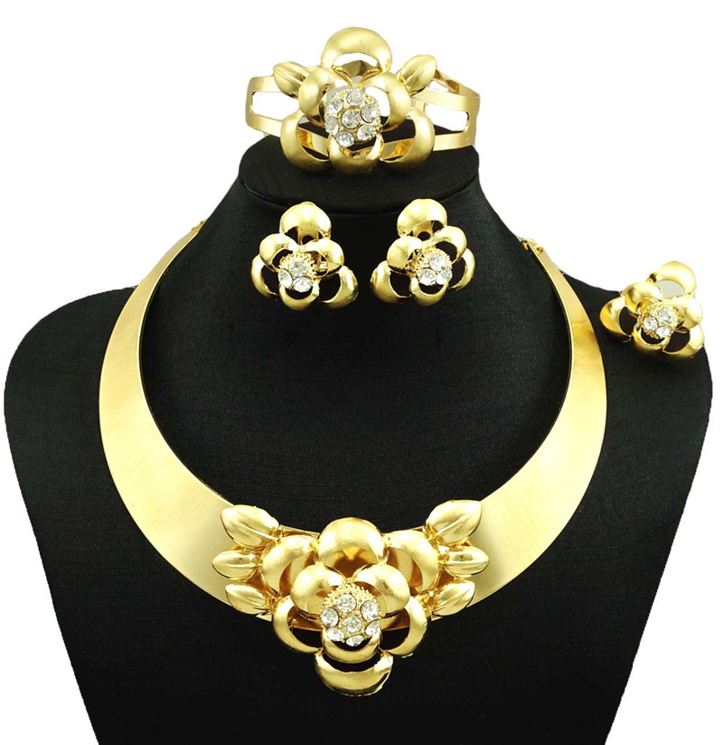 new arrive real gold plated jewelry sets women fashion jewery sets fine jewelry sets women necklace silver colour jewelry sets(China (Mainland))