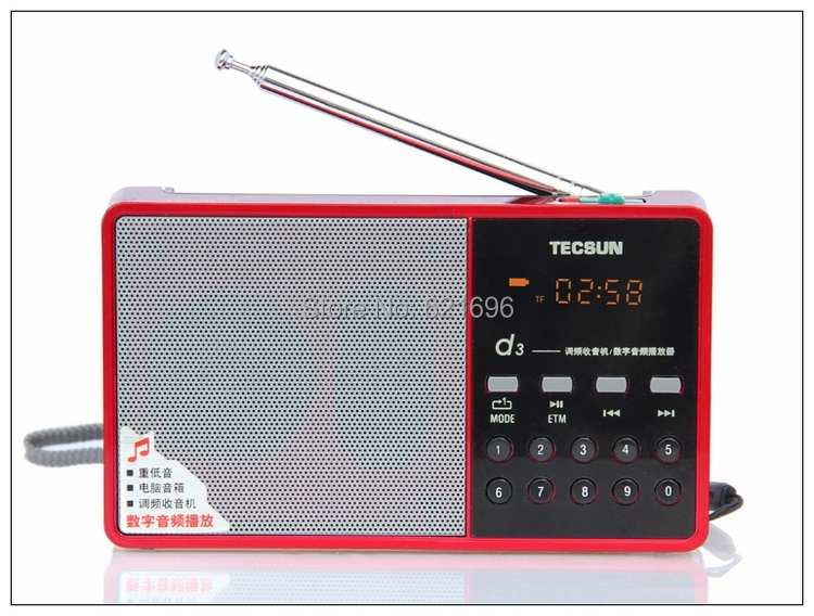 Tecsun D3 radio card speaker mini stereo MP3 music player card clock radio portable card Easy to operate smart radio station(China (Mainland))