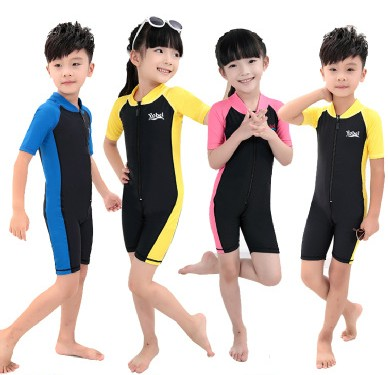 Free shipping Children Diving suit Swimsuit Swimwear CHILDRED Wetsuits Dive Surfing Wetsuit autumn -summer 0502(China (Mainland))