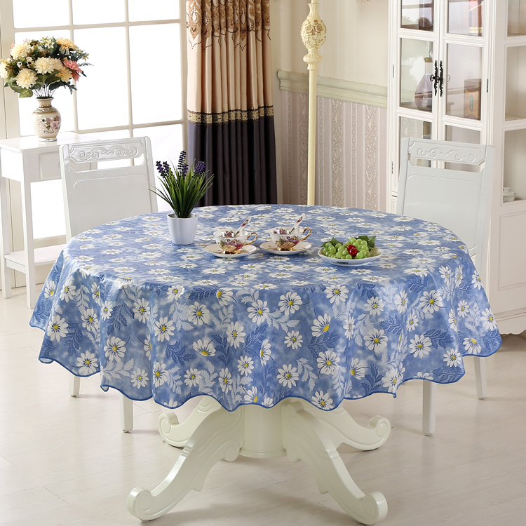 Table Skirt PVC Cloth Waterproof And Oil Proof Hot Disposable Plastic Hotels Round The