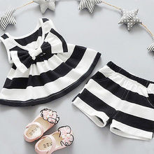 2PCS Newborn Baby Girls  Tops Dresses Shorts Pants Outfit Clothes Baby Girls Clothes Set Girls Clothing Set