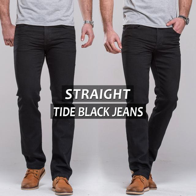 Мужские джинсы прямые брюки ноги мода дизайнер марки джинсы известный бренд длинные ...