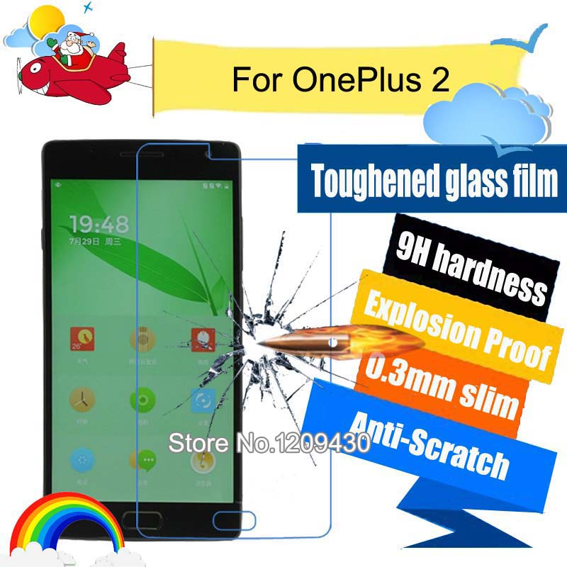 Tempered Glass Screen Protector Film For OnePlus 2 / For OnePlus X / For Newman button CM810 Anti-Explosion Protective Film(China (Mainland))