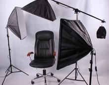 camera studio photo set photography studio 3 lamp studier set 3*150w bulb photographic equipment portraitist dome light CP