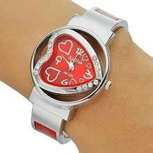 Relojes mujer 2015 moda reloj de cuarzo en forma de corazón pulsera mujer casual deportiva watchesbracelets y brazaletes para mujer