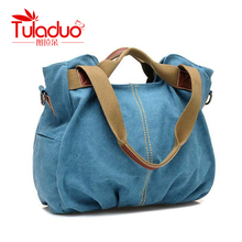 Womens Casual Canvas Shoulder Tote Bag
