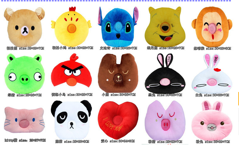Clearance Sale Creative Gift 3.5MM Fruit Shape Portable Music Player Speaker Cushion Pillow Mp3 Mp4 Mobile Phone - love&charm store