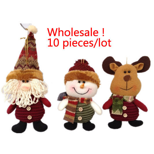 "Drop Shipping,wholesale 10 pieces lot ,7"" Indoor Christmas Hanging Ornaments Decoration Santa Claus Snowman Deer , SHB044(China (Mainland))"